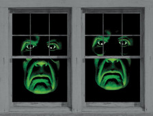 Twin Green Demons Posters shown in two windows