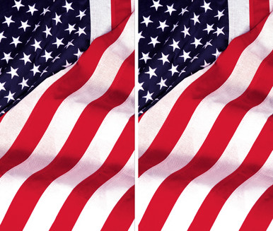 2 Old Glory USA American Flag Decorative Window Posters