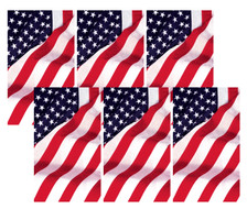6 Old Glory USA American Flag Decorative Window Posters