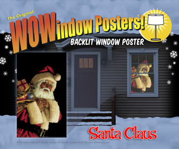 "Window Poster Christmas Santa Claus Jolly by WOWindows USA-made Decoration Includes One Reusable 34.5""x60"" Backlit Poster"