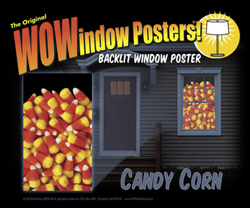 Candy Corn Poster as seen in a house