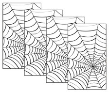 House Full of Spiderwebs 4 pack of Halloween Window Poster Decorations