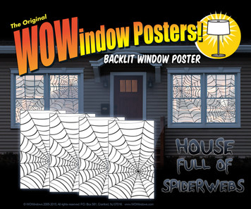 4 spider web window posters shown in four windows
