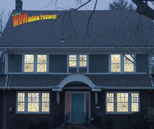 12 spider web posters as seen in a house