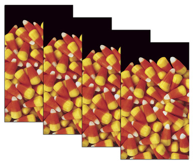 House Full of Candy Corn 4 Halloween Window Poster Decorations