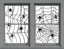 Make a Scene Spiders and Web Posters shown in two windows