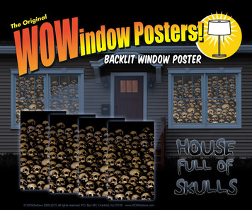 House showing 4 skull posters shown in four windows