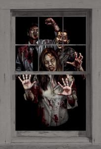 Suzie's Revenge poster shown in a window