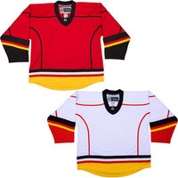 NHL Uncrested Replica Jersey  DJ300 - Calgary Flames