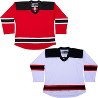 NHL Uncrested Replica Jersey DJ300 - New Jersey Devils -Red SR
