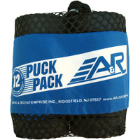 A&R 12-Pack Regulation Ice Hockey Pucks with Mesh Bag