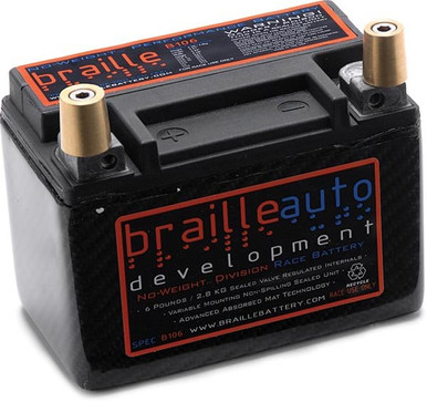Braille Carbon Fiber Race Battery B106cf1