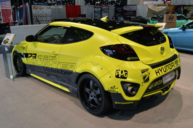 2012-2018 Hyundai Veloster EGR 8 Piece Wide Body Kit in FRP