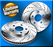 2017-2019 Elantra Sport Crossdrilled and Slotted Front Brake Rotors