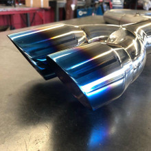 Elantra Sport Burnt Blue Twin Tip Exhaust Piercemotorsports