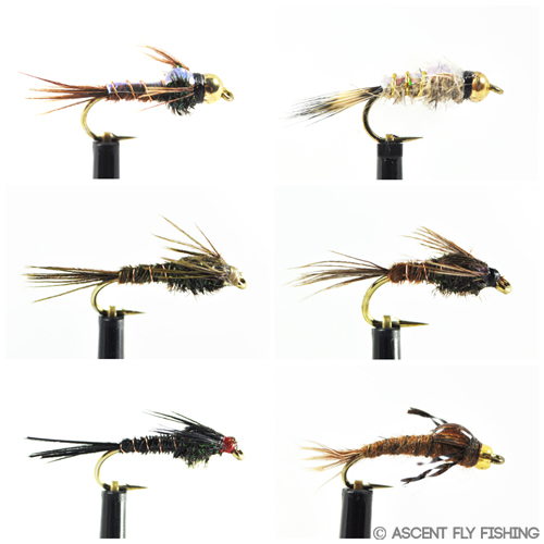 TUNG-4 1 DOZEN  TUNGSTEN HEAD SILVER /& RED SPANISH NYMPHS FOR FLY FISHING