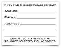 Fly Box ID Decal