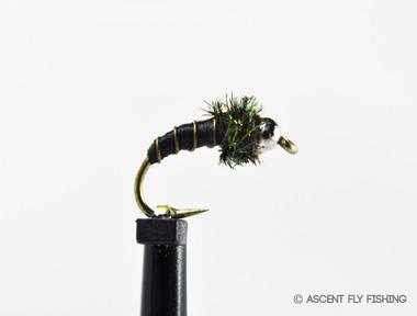 Black Beadhead Zebra Midge Pupa