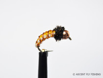 Beadhead Woven Yellow Caddis Larva