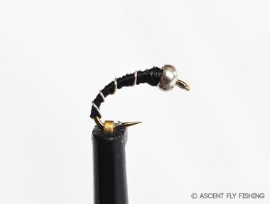 Black Beadhead Zebra Midge