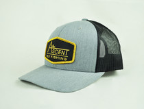 Ascent Fly Fishing Patch Hat - Grey