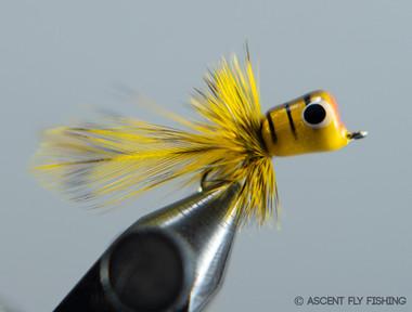 Walt's Panfish Popper - Yellow Bee