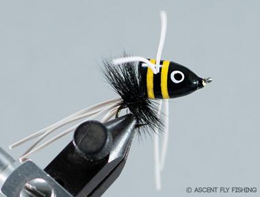 Walt's Small Slider - Black & Yellow Stripped