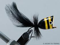 Walt's Large Popper - Black & Yellow Stripe