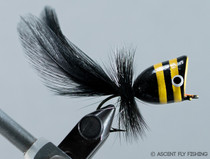 Walt's Large Popper - Black & Yellow Stripe