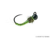 Tungsten Jig Caddis Larva - Green