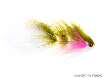 T & A Bunker Articulated Streamer - Rainbow Trout