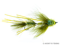 Circus Peanut Articulated Streamer - Olive
