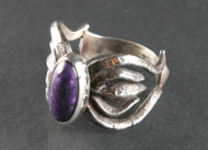 Sugulite and Sterling Silver Ring r0001