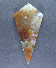 Translucent Red and Orange Ocean Jasper Designer Cabochon  #14668