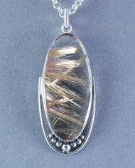 Rutilated Quartz Sterling Silver Pendant