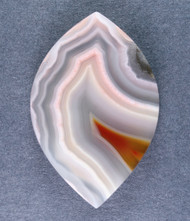 Top Shelf Laguna Agate Cabochon- Red, Pink and White #14734