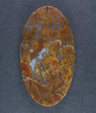 Dramatic Riviera Moss/Plume Agate Designer Cabochon  #14911