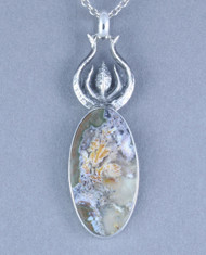 Priday Plume Agate Sterling Silver Pendant p0017