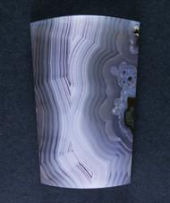Purple Laguna Agate Designer Cabochon- Purple and White  #15501