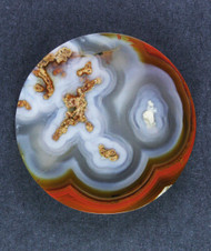 Gorgeous Laguna Agate Plume Cabochon- Orange and Blue   #15638