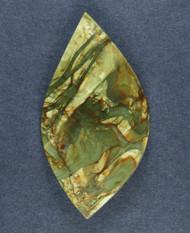 Dramatic Morrisonite Jasper Cabochon- Greens and Orange  #15882