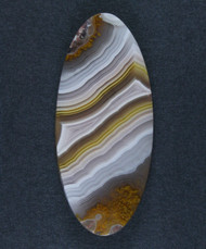 Pink and Yellow Agua Nueva Fotification Agate Cabochon #15894