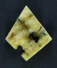 Gorgeous Bright Yellow Druzy Agate Gemstone  #15930