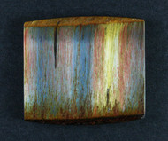 Dramatic Marra Mamba  Cabochon -  Rare Copper Red, Blue and Yellow  #17093