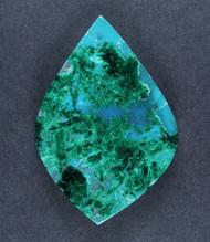 Deep Blue Gem Chrysocolla Chatoyant Malachite Cabochon  #17106