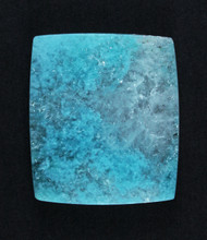Bright Blue Chrysocolla in Agate Cabochon #17164