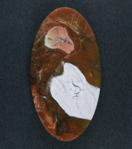 Gorgeous Chapenite Brecciated Jasper Cabochon   #17257