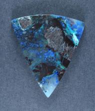Deep Blue Chrysocolla w Azurite Cabochon  #17342