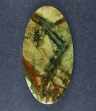Dramatic Morrisonite Jasper Cabochon- Blue/Green and Orange   #17373