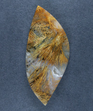 Gorgeous Designer Cabochon of Nipomo Sagenite Agate  #17382